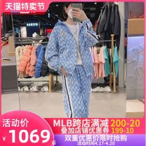 Sports suit MLB For men and women XS S M L XL XXL Long sleeves Hood trousers Cardigan Summer 2021 Sports & Leisure ventilation Sports life Cotton polyester Brand logo yes