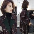 woolen coat Winter of 2019 S,M,L coffee other 51% (inclusive) - 70% (inclusive) routine Long sleeves street A button routine tailored collar Straight cylinder B193y10026p bobowaltz Europe and America