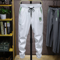 Casual pants Cloth clothes Fashion City Grey white black 28 29 30 31 32 33 34 36 38 40 thin trousers Other leisure Self cultivation get shot B430-K870 summer youth Youthful vigor 2020 middle-waisted Little feet Polyamide fiber (nylon) 90% polyurethane elastic fiber (spandex) 10% Haren pants nylon