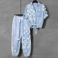 Fashion suit Spring 2021 S M L XL 2XL Two piece set (10 days in advance) 188 yuan for top and 188 yuan for trousers (10 days in advance) Over 35 years old Duo Yue Other 100% Pure e-commerce (online only)