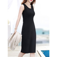 Lace / Chiffon Winter 2020 Black, purple, army green S,M,L,XL Sleeveless commute singleton  Crew neck Solid color 18-24 years old Other / other Korean version 91% (inclusive) - 95% (inclusive) cotton