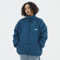cotton-padded clothes Lake blue, dark green, black WSPWASSUP XS,S,M,L,XL Youth fashion routine routine easy Other leisure WSP19055 Diene elastic fiber 65% cotton 35% stand collar teenagers zipper tide silk floss Rubber band hem diamond Bag digging with open cut thread badge No iron treatment cotton