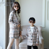 Parent child fashion A family of three neutral Checcivan C93041500 spring and autumn leisure time routine C93041500 Cotton 100% Class B Autumn of 2019