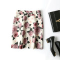 skirt Spring of 2019 S,M,L,XL Black, naked apricot Middle-skirt Versatile High waist A-line skirt Decor Type A A34945 CG / Chaoge polyester fiber printing