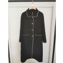 woolen coat Winter 2020 Size 2 s 155 / 80A, size 3 m 160 / 84A, size 4 L 165 / 88a, size 5 XL 170 / 92, size 6 2XL 175 / 96a black wool 95% and above have more cash than can be accounted for Long sleeves commute Single breasted routine Doll Collar Solid color Straight cylinder Simplicity