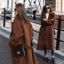 woolen coat Winter 2017 S M L XL 2XL 3XL polyester 81% (inclusive) - 90% (inclusive) Medium length Long sleeves commute Single breasted tailored collar Solid color Self cultivation Korean version Kolevo Pure e-commerce (online only)
