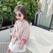 Suit / Blazer 90cm,100cm,110cm,120cm,130cm,140cm Other / other female There are models in the real shooting leisure time spring and autumn Solid color double-breasted routine Cotton blended fabric 2 years old, 3 years old, 4 years old, 5 years old, 6 years old, 7 years old, 8 years old