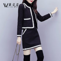 Fashion suit Autumn of 2019 S M L XL 2XL Black and white 25-35 years old Weizikou Polyester 97% other 3% Pure e-commerce (online only)