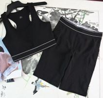 Sports underwear suit S,M,L,XL female Vest [knitting letters], Capris [knitting letters]