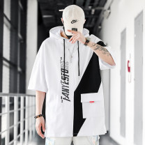 Sweater Youth fashion Norther Black and white M L XL 3XL XXL 4XL 5XL Alphanumeric Socket routine Hood summer easy leisure time teenagers tide routine Terry cloth Cotton 100% cotton printing No iron treatment Summer 2021 More than 95% Save pocket Pure e-commerce (online only) Japanese and Korean style