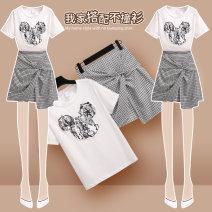 Fashion suit Summer 2020 S M L XL 208163 white T-shirt + 208165 grey skirt 208163 white T-shirt 208165 grey skirt 18-25 years old Onedawm / Chuli 208163+208165#1 Other 100% Exclusive payment of tmall
