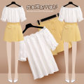Lace / Chiffon Other 100% Pure e-commerce (online sales only) Regular payment Summer 2021 Short sleeve Straight collar commute Solid color Condom Self cultivation puff sleeve 25-29 years old Two piece set 217270+217135#1 Korean version Onedawm / Chuli S M L XL