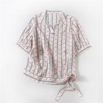 shirt Decor L,XL,2XL Summer 2020 silk 96% and above Short sleeve commute Regular Polo collar Socket routine Straight cylinder 23725ZQ