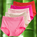 underpants female M,L,XL,XXL The fragrance of the rising sun 5 Bamboo charcoal fiber Briefs High waist Simplicity Solid color middle age More than 95% Modal fabric Antibacterial lesbian