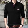 T-shirt Business gentleman routine 165/M 170/L 175/XL 180/2xL 185/3xL 190/4xL Prince Hui Long sleeves Lapel easy daily autumn Cotton 100% middle age routine Simplicity in Europe and America Cotton wool Autumn 2020 Solid color Embroidered logo cotton Chinese culture No iron treatment Fashion brand