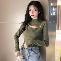 Wool knitwear Autumn of 2019 S M L XL White, black, green Long sleeves singleton  Socket other More than 95% have cash less than that is registered in the accounts thickening commute Self cultivation Half height crew neck routine Solid color Socket Retro UPNS99406 18-24 years old ikllo Other 100%
