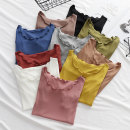 T-shirt Black, white, light gray, yellow, rubber powder, denim blue, brick red, pickle green, light khaki, deep khaki M,L,XL,2XL Summer 2020 Short sleeve Crew neck Self cultivation Regular routine commute modal  86% (inclusive) -95% (inclusive) Korean version Solid color
