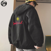 Jacket Jin Dabai Youth fashion Orange red green black M L XL 2XL routine easy Travel? winter SYSHSGAA Cotton 100% Long sleeves Wear out Hood tide youth routine Zipper placket Rib hem No iron treatment Closing sleeve Solid color Winter of 2019 Zipper decoration Three dimensional bag