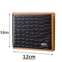 wallet Short Wallet PU Other / other The black crocodile pattern is elegant, the deep brown crocodile pattern is solemn and steady, and the light brown crocodile pattern is natural and gorgeous brand new Europe and America male Exposure lattice 80% off Horizontal style youth Crocodile pattern KK-58