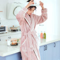 Nightgown / bathrobe Beautiful spinning lovers M L XL XXL 3XL thickening Sweet Polyester (polyester) winter More than 95% Long (below Mid Calf) Flannel youth Embroidery 340g Autumn of 2019 Polyester 100% Pure e-commerce (online only)
