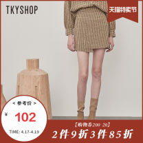 skirt Autumn 2020 S M L Plaid pattern Mid length dress commute High waist A-line skirt lattice 25-29 years old 10D1GA01QT017 More than 95% other TKY SHOP polyester fiber literature Polyester 96.1% polyurethane elastic fiber (spandex) 3.9% Same model in shopping mall (sold online and offline)