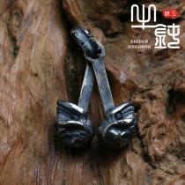 Pendant / Pendant Silver ornaments 501-800 yuan Niudun Seiko No inlay, one eye inlay need to contact customer service goods in stock SL-PD003 925 Silver