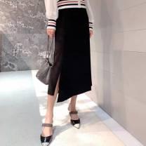 skirt Summer 2021 1 / XS, 2 / s, 3 / m, 4 / L, 5 / XL Black, orange Short skirt Versatile Natural waist A-line skirt Dot Type A 51% (inclusive) - 70% (inclusive) other Pretend to be amashizheng nylon Three dimensional decoration, zipper