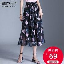 skirt Summer of 2019 Average size Decor 1 Decor 2 Decor 3 Decor 4 Decor 5 Decor 6 Decor 7 Decor 8 Mid length dress commute High waist A-line skirt Decor Type A 25-29 years old Chiffon Qian balan Korean version