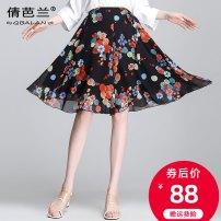 Casual pants safflower M L XL XXL 3XL 4XL Summer 2021 Pant Wide leg pants High waist commute Thin money 21QBY221051 Qian balan Korean version Other polyester 95% 5%