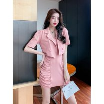 Fashion suit Summer 2021 S,M,L Light green, black, pink, collection plus purchase priority delivery 71% (inclusive) - 80% (inclusive) polyester fiber