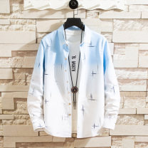 shirt Youth fashion Dushi military knife 165/M 170/L 175/XL 180/XXL 185/XXXL 933 grey 933 yellow 933 blue CS61 white CS61 grey 160 with long sleeve T-shirt pure white routine Button collar Long sleeves Self cultivation Other leisure autumn C9601 youth Polyester 58.9% cotton 41.1% tide 2019 washing