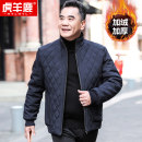 Jacket Hylhyl / huyanglu other 170/M 175/L 180/XL 185/XXL 190/XXXL 195/XXXXL Plush and thicken easy Other leisure winter W122- Polyester 100% Long sleeves Wear out stand collar Business Casual middle age routine Zipper placket Cloth hem No iron treatment Closing sleeve other Spring 2020