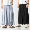 Casual pants Others Youth fashion thin Ninth pants Other leisure easy summer youth Chinese style 2019 middle-waisted Straight cylinder washing Cotton and hemp Original designer
