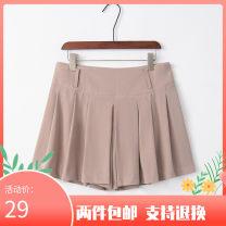 Casual pants Khaki M,L,XL Summer of 2019 shorts Natural waist Thin money 91% (inclusive) - 95% (inclusive) nylon nylon