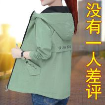 short coat Spring 2020 Long sleeves have cash less than that is registered in the accounts routine singleton  easy Versatile routine Hood zipper letter 25-29 years old Yaloo / Yalu 96% and above Embroidery, pocket polyester fiber nylon