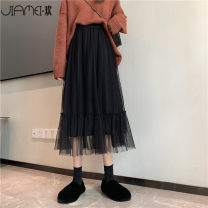 skirt Winter 2020 Average size (suitable for 80 ~ 130 kg) Black apricot longuette commute High waist Pleated skirt Solid color Type A 18-24 years old JMH2020012015B2 More than 95% Chiffon Jiameihuan polyester fiber Gauze Polyester 100% Pure e-commerce (online only)