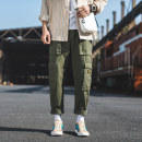 Casual pants Others Youth fashion Green, black M,L,XL,2XL,3XL trousers motion easy S12-5-A882 tide