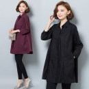 Women's large Spring 2021 Purplish red, black XL (recommended 105-125 kg), 2XL (recommended 124-145 kg), 3XL (recommended 145-165 kg), 4XL (recommended 165-185 kg), 5XL (recommended 185-205 kg) shirt singleton  commute easy moderate Socket Nine point sleeve Solid color, others Korean version other