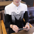 Polo shirt Baodu Youth fashion routine 4XL M L XL 2XL 3XL Self cultivation Other leisure Long sleeves T7120 Cotton 95% polyurethane elastic fiber (spandex) 5% Autumn of 2019