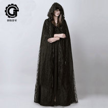 woolen coat Winter 2015 Average size polyester 91% (including) - 95% (excluding) have more cash than can be accounted for Sleeveless Sweet A button Hood Solid color Cape type Master of steel Lolita