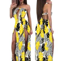 Dress Winter 2016 Red black, green orange, blue black, blue red, yellow gray, green black S,M,L,XL,XXL longuette singleton  Elastic waist Socket One pace skirt Stitching, open back, hollow out, printing, three-dimensional decoration, printing / dyeing