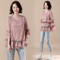 Women's large Spring 2021 Picture color M [recommended 100-110 kg], l [recommended 110-125 kg], XL [recommended 125-140 kg], 2XL [recommended 140-155 kg], 3XL [recommended 155-170 kg], 4XL [recommended 170-185 kg], 5XL [recommended 185-200 kg] shirt singleton  commute easy moderate Socket literature