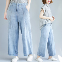 Women's large Spring 2021, summer 2021 Picture color L [100-140 Jin recommended], XL [140-180 Jin recommended] Jeans singleton  commute easy moderate literature Denim Three dimensional cutting Z0321W 31% (inclusive) - 50% (inclusive) Ninth pants