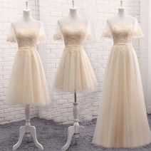 Dress / evening wear Weddings, adulthood parties, company annual meetings, daily appointments S M L XL XXL customized no return fashion Medium length middle-waisted Summer 2017 Self cultivation U-neck Bandage 18-25 years old QYZP0159 Short sleeve flower Solid color Qiyi Zhenpin Flying sleeve other