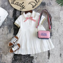 Dress White (long sleeve) h52359 Pleated Dress, white - Short Sleeve - h52358 52358 Pink Butterfly female Other / other The recommended height is below 90cm for size 7, 100cm for size 9, 110cm for size 11, 120cm for size 13 and 130cm for size 15 Other 100% summer Korean version Short sleeve Pleats