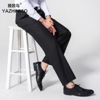 Western-style trousers Elegant bird Business gentleman Loose Fit Black Loose Fit Navy Slim Fit Black Slim Fit Navy loose fit 701 # loose fit 702 # loose fit 703# 28 29 30 31 32 33 34 35 36 38 40 42 44 46 251# trousers Polyester 80% viscose 20% easy go to work youth Business Formal  Spring 2017
