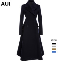 woolen coat Winter of 2018 S M L XL Blue red black wool fabric [L / XL pre-sale 20 days] camel gray black wool fabric [in stock] wool 51% (inclusive) - 70% (inclusive) have more cash than can be accounted for Long sleeves street double-breasted routine tailored collar Solid color Self cultivation AUI