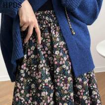 skirt Autumn 2020 L, M Black flowers Mid length dress fresh High waist A-line skirt Decor Type A 30-34 years old Other / other 31% (inclusive) - 50% (inclusive) Other / other cotton bow 401g / m ^ 2 (inclusive) - 500g / m ^ 2 (inclusive)
