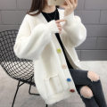 Wool knitwear Autumn of 2019 S M L XL Long sleeves singleton  Cardigan other More than 95% Medium length routine commute easy V-neck routine Solid color Single breasted Korean version 25-29 years old Xuanmujiao Color fixing with stitching resin Other 100% Pure e-commerce (online only)