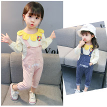 suit Other / other 80cm (recommended 60-78cm high) 90cm (recommended 78-88cm high) 100cm (recommended 88-95cm high) 110cm (recommended 95-105cm high) 120cm (recommended 104-110cm high) female spring and autumn leisure time Long sleeve + pants 2 pieces routine There are models in the real shooting